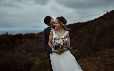 Herbstliches After Wedding Inspirations-Shooting im Steinbruch in Minden